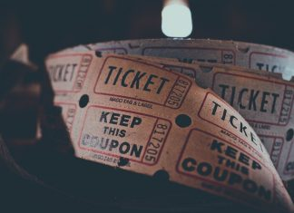 ticket representing buying a share